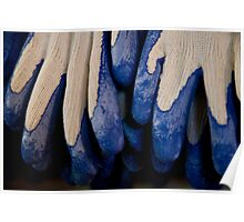 Udderly Blue, Knit Gloves Poster
