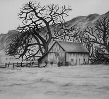 """""""Peaceful Valley"""" - Charcoal/Graphite  by SD 2010 Photography & Equine Art Creations"""