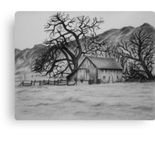 """Peaceful Valley"" - Charcoal/Graphite  Canvas Print"