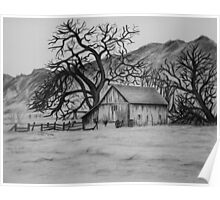 """""""Peaceful Valley"""" - Charcoal/Graphite  Poster"""