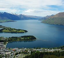 Overlooking Queenstown and Lake Wakatipu by Alison Murphy