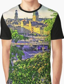 A peek of the Old Town, Stockholm. Graphic T-Shirt