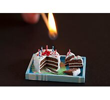 Birthday Candles Photographic Print