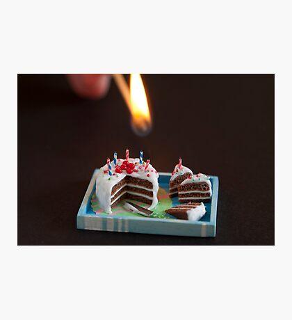 Birthday Candles Photographic Print