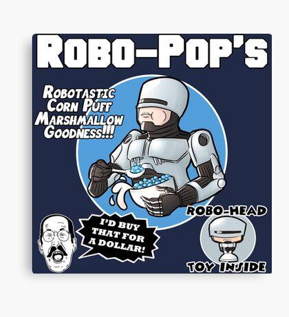 RoboPops Cereal Box Mashup Canvas Print