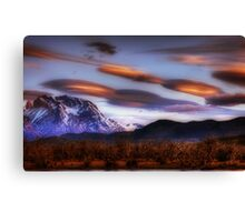 Lenticular Clouds over Torres del Paine Canvas Print