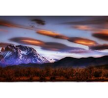 Lenticular Clouds over Torres del Paine Photographic Print