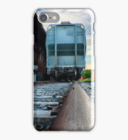 Looking Down the Line in Cortland, NY iPhone Case/Skin