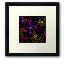 Swirly twirly Framed Print