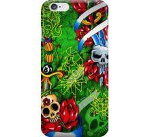 Traditional Skull Dagger & Rose Tattoos iPhone Case/Skin