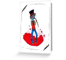 Zombies Can be Classy Too Greeting Card