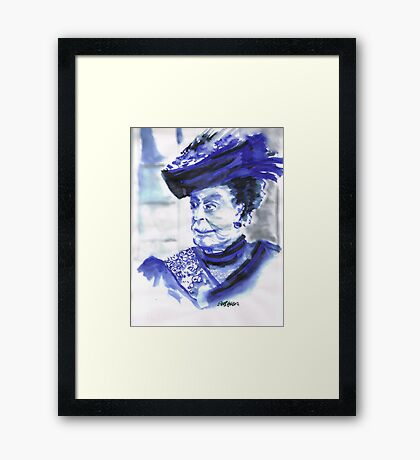 Lady Violet the Dowager Framed Print