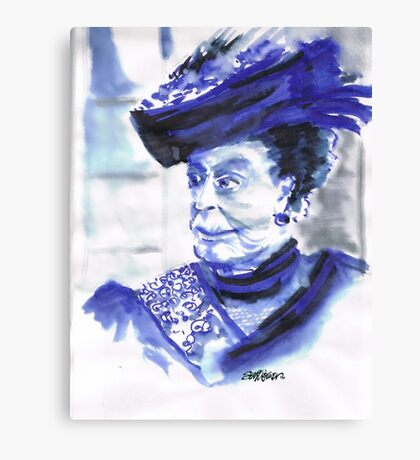 Lady Violet the Dowager Canvas Print