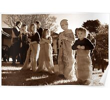 "Sack race - ""Cooradigbee"" homestead, launch Wee Jasper history book, 2011 Poster"