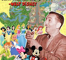 Walt Disney Poster by JohnRex