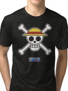 One Piece Rufy 's flag Tri-blend T-Shirt