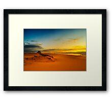 Sunset Drift Framed Print