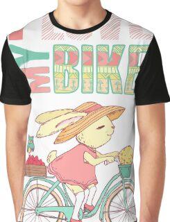Cute rabbit riding a bike Graphic T-Shirt