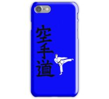 Karate do with side kick guy (without logo) iPhone Case/Skin