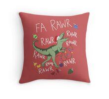 T-Rex Christmas Dinosaur - Dinosaur Christmas Throw Pillow