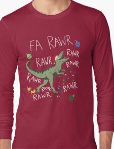T-Rex Christmas Dinosaur - Dinosaur Christmas Long Sleeve T-Shirt