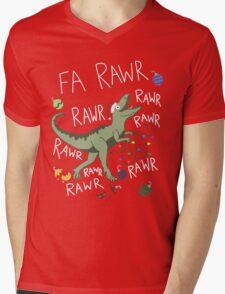 T-Rex Christmas Dinosaur - Dinosaur Christmas Mens V-Neck T-Shirt