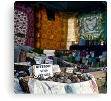 Potato Stall, Farm Gate Market Canvas Print