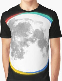 colourful moon Graphic T-Shirt