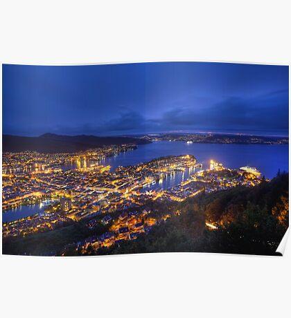 Night-time Norway Poster