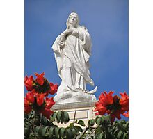 Mother Mary In Red Photographic Print