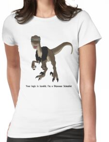 Dinosaur Scientist Womens Fitted T-Shirt