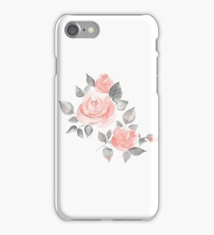Beautiful roses. Hand-drawn  watercolor flowers  iPhone Case/Skin