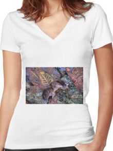 """Spiritual Vole"" Women's Fitted V-Neck T-Shirt"