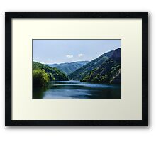 Summer Sunshine and a Gentle Breeze - Mountain Lake Impression Framed Print