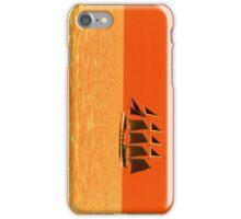 Sail Boat Orange iPhone Case/Skin