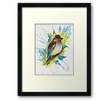 Little Miss Wax Wings Framed Print