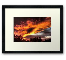 sunset in Kelmscott Framed Print