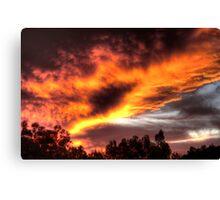 sunset in Kelmscott Canvas Print