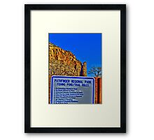 Rock formation hdr Framed Print