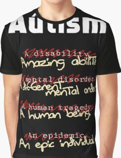 Autism - A Corrected List Graphic T-Shirt