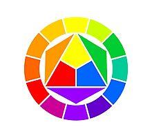 Color circle Photographic Print