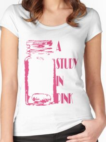 A Study in Pink Women's Fitted Scoop T-Shirt