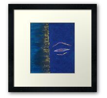 buddha blue eight Framed Print