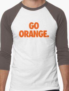 GO ORANGE. Men's Baseball ¾ T-Shirt