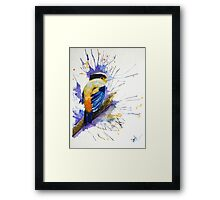 Silver and Bold Framed Print