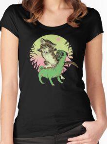 K-Rex & Pugosaurus Women's Fitted Scoop T-Shirt