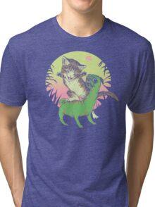 K-Rex & Pugosaurus Tri-blend T-Shirt