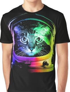 Astronaut Cat Graphic T-Shirt