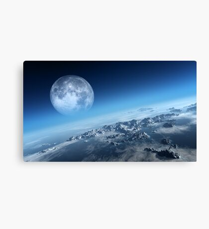 Earth icy ocean aerial view Canvas Print