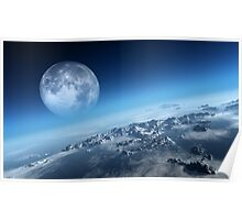 Earth icy ocean aerial view Poster